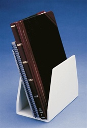 50009 | Holder Free Standing White PVC with 2 inch Wide Op