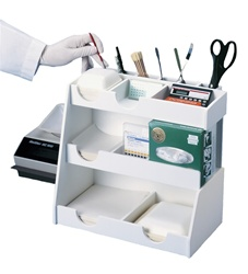 50027 | Workstation Top Loader White PVC with 14 Compartme